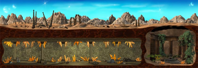 Desert Wasteland (Daytime) (Click to enlarge)