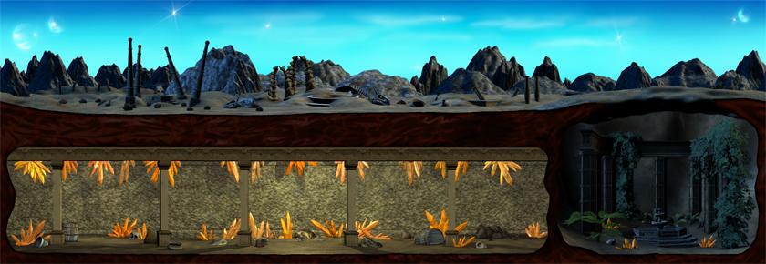 Desert Wasteland (Dawn/Dusk) (Click to enlarge)