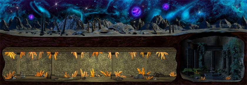 Desert Wasteland (Nighttime) (Click to enlarge)
