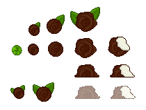 Chocolate Coconut Roses (Click to enlarge)