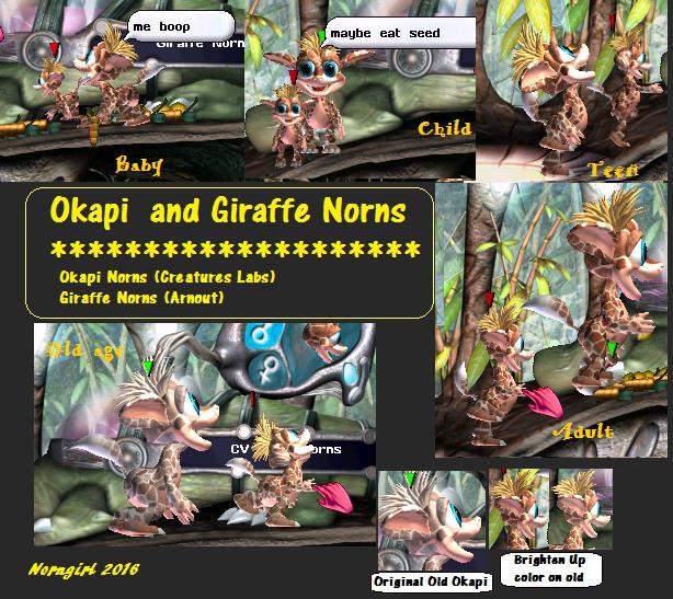 Giraffe vs Okapi Norn (Click to enlarge)