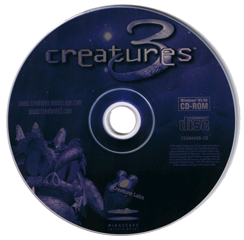 Creatures 3 Disc Art (Click to enlarge)