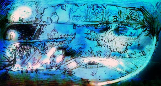 Crystal terrarium sketch (Click to enlarge)