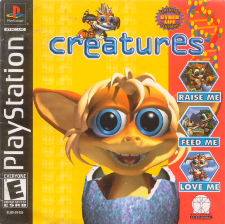 Creatures PS1 front cover (Click to enlarge)