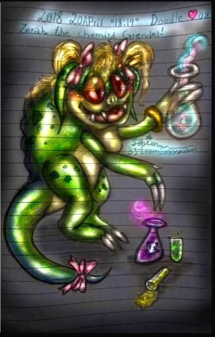 08 Doodle Serah chemist gren (Image Credit: IzumiSabi)