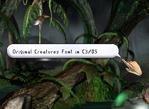 Original Creatures Font for C3/DS