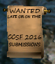 CCSF 2016 Submissions Needed!